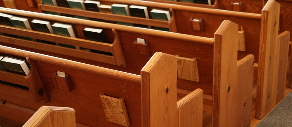 ...open the doors, and see all the...pews!