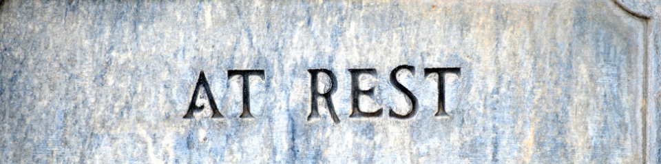 At rest, at peace